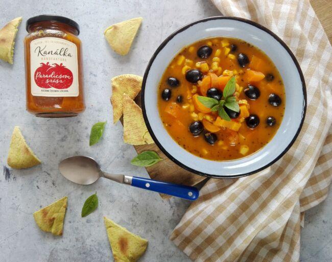 Toszkán paradicsomos leves recept
